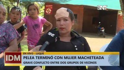 Mujer es macheteada en un enfrentamiento por propiedades en Luque