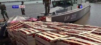 Lucha frontal contra el contrabando en Itá Enramada