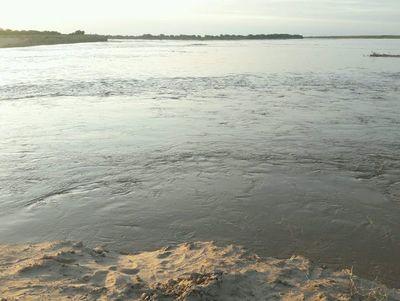 Río Pilcomayo alcanzó su pico más alto en la nueva embocadura