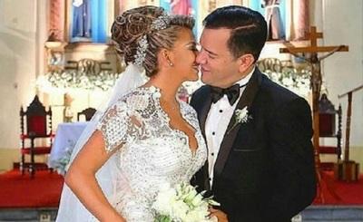 Marly Figueredo y su esposo celebran 3 años de casados