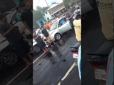 APARATOSO ACCIDENTE EN ACCESO AL B° CHAIPE SOBRE RUTA VI
