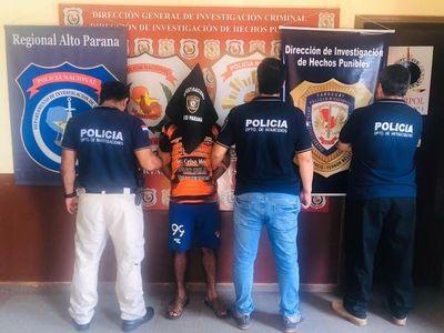 Detienen a sospechoso del asesinato de mujeres en Alto Paraná