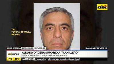 """Alliana ordena sumario a """"planillero"""" de Diputados"""