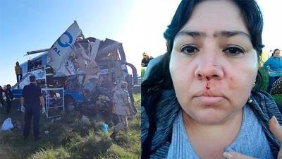 """Paraguaya que sobrevivió a accidente de bus: """"Lo mío fue un milagro"""""""