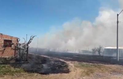 Incendio en la zona del bajo Chaco