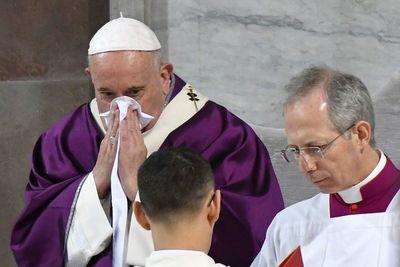 """Preocupa """"resfrío"""" del Papa ante llegada del coronavirus a Italia"""