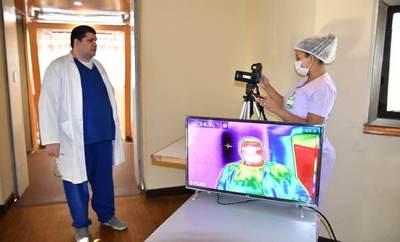 Implementan escáner de temperatura corporal en el Silvio Pettirossi