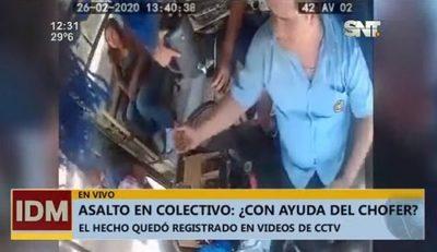 Vendedor asalta en bus y se sospecha complicidad del chofer