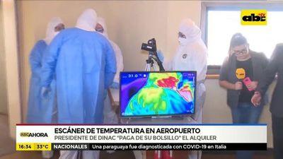 Coronavirus: escáner de temperatura en aeropuerto