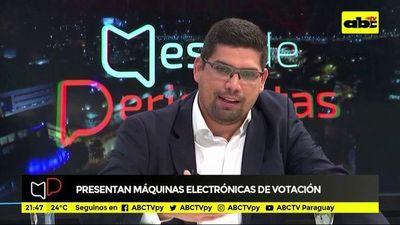 Presentan máquinas electrónicas de votación
