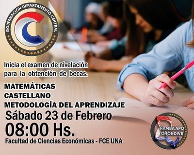 La Gobernación del Departamento Central convoca a los jóvenes que aprobaron la primera etapa de evaluación para Becas 2019