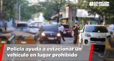"""""""Nenecho"""" denuncia que hasta un policía permite estacionar en sitio no permitido"""