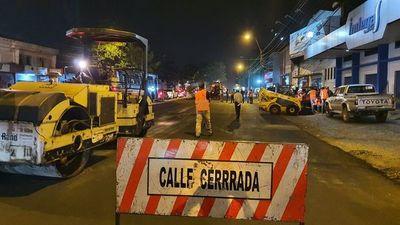 Múltiples cierres de avenidas y calles por obras en Asunción