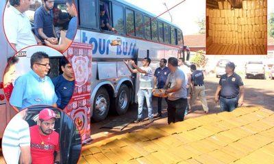 Incautan más de una tonelada de marihuana que era  transportada en bus de excusión con destino a Brasil – Diario TNPRESS
