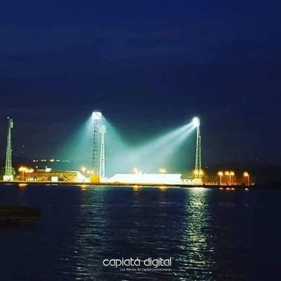Brillante!: prueba de luces en nuevo estadio suma belleza y colorido a la capital de Itapúa