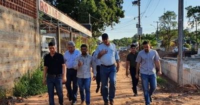 Avenida De la Victoria: Domínguez y Salomón acompañaron al ministro de Obras