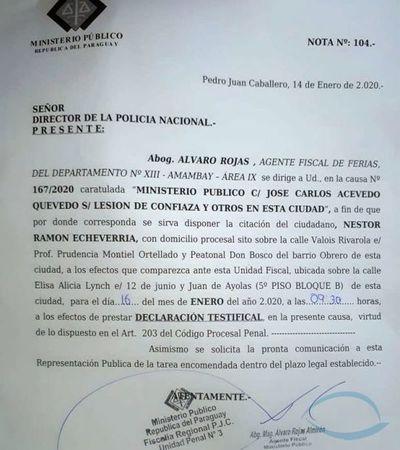 José Carlos Acevedo acorralado por el Ministerio Publico