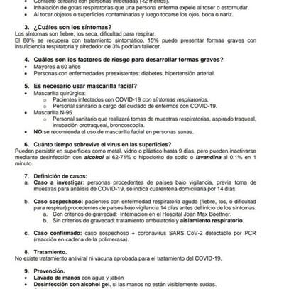 Información útil sobre el coronavirus