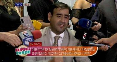 """Penayo: """"renuncio porque el Ministro del Interior no me da su apoyo"""""""