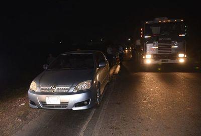 Ladrones abandonaron auto que robaron y solo se llevaron la cena