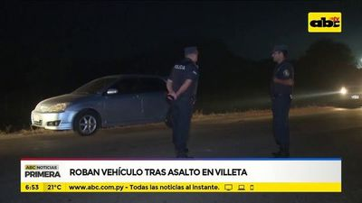 Roban vehículo tras asalto en Villeta