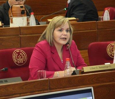 """Lilian Samaniego insiste en desdoblar elecciones por temor a que la ANR """"pierda"""" más municipios"""