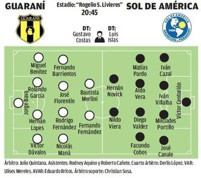Guaraní-Sol de América, duelo de ganadores