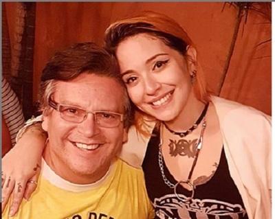 Mili Brítez, orgulloso de Andrea Valobra