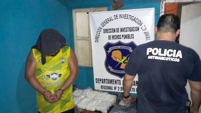 Policía se incauta de 9 kilos de cocaína en Presidente Franco