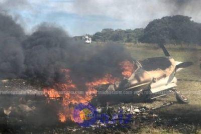 Piloto incendio avión utilizado para transportar cocaína en Pantanal