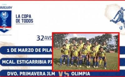 Dep. Primavera de Mallorquín enfrentará a Olimpia por Copa Paraguay