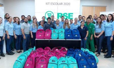» Tecnomyl celebró su aniversario entregando kits escolares a colaboradores