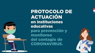 MEC establece un protocolo de acciones preventivas en instituciones educativas