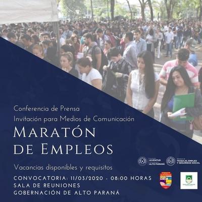 Feria de empleos en la Gobernación de Alto Paraná