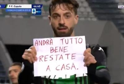 En Italia piden quedarse en casa hasta en festejo de gol