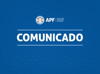Comunicado de la APF