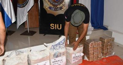 Más de 400 kilos de cocaína fueron incautados entre Concepción y Amambay