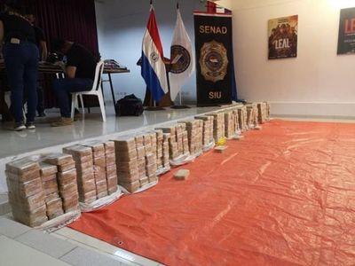 Incautan 461 kilos de cocaína en pista clandestina de Cerro Guazú
