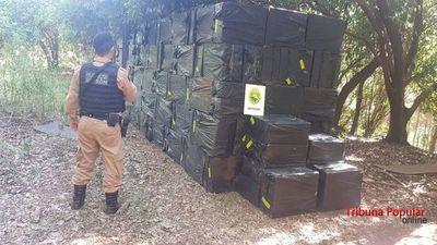 Requisan 410 cajas de cigarrillos paraguayos