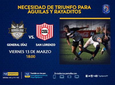 Previa del partido General Díaz vs. Sportivo San Lorenzo