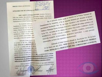 Dictador: Intendente de Pedro Juan utilizo decreto presidencial para detener a líderes sociales