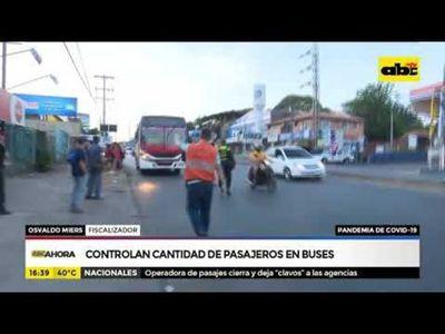 Covid-19: Controlan cantidad de pasajeros en buses