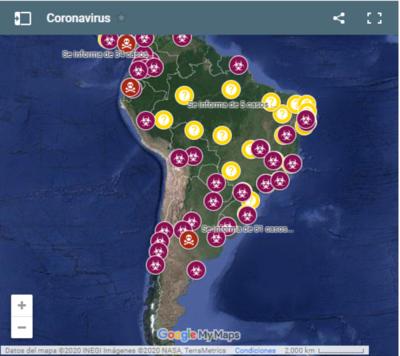 [AHORA] Mapa Coronavirus Actualizado