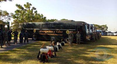 Buses de las Fuerzas Armadas cooperarán con el transporte de pasajeros desde este lunes