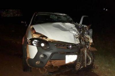 Motociclista muere en un aparatoso accidente de tránsito en Santa Rita