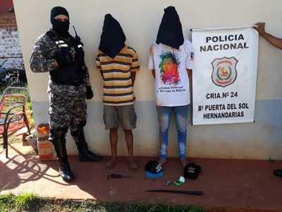 Atrapan a dos bandidos que mantenían en zozobra a vecinos de Hernandarias