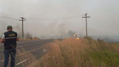 Peligro de propagación de incendios en la cuarentena
