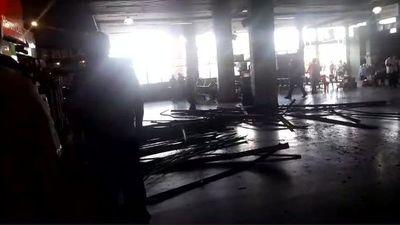 """Nueva """"desgracia con suerte"""" tras caída de cielorraso en la Terminal de Asunción"""