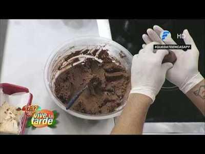 Oscarcito prepara rollitos de vegetales y galletitas de choco y dulce de leche
