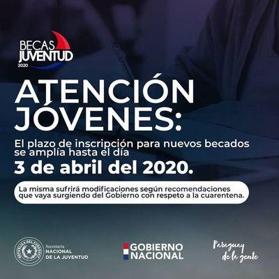 Becas Juventud 2020 se extiende inscripción